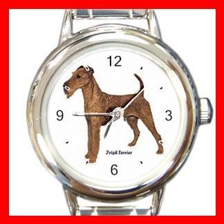 Irish Terrier Dog Pet Round Italian Charm Wrist Watch 479