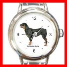 Rottweiler Rotty Dog Pet Round Italian Charm Wrist Watch 483