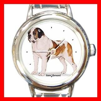 Saint Bernard Dog Pet Round Italian Charm Wrist Watch 485