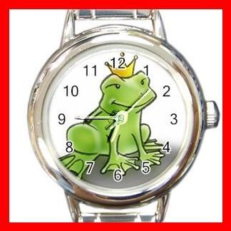 FROG PRINCE FROGGY TOAD Round Italian Charm Wrist Watch 492