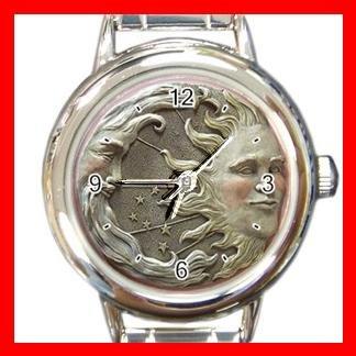 SUN AND MOON Universe Space Round Italian Charm Wrist Watch 496