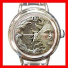 SUN AND MOON Universe Space Round Italian Charm Wrist Watch 496