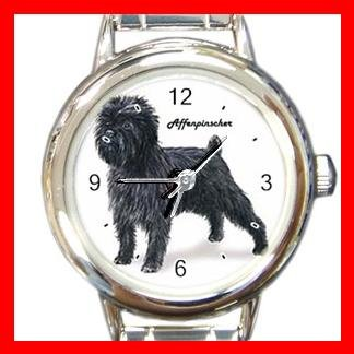 Affenpinscher Dog Pet Round Italian Charm Wrist Watch 490