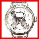 Afghan Hound Dog Pet Round Italian Charm Wrist Watch 499