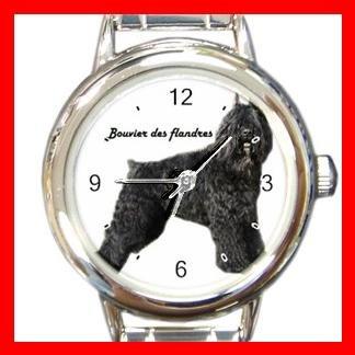 Bouvier Des Flandres Dog Pet Round Italian Charm Wrist Watch 500