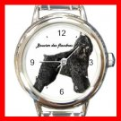 Bouvier Des Flandres Dog Pet Round Italian Charm Wrist Watch 500