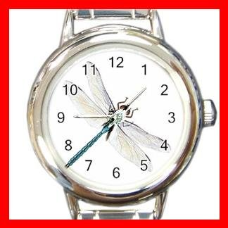 Dragonfly Fly Insect Round Italian Charm Wrist Watch 501