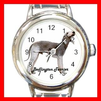 Bedlington Terrier Dog Animal Pet Round Italian Charm Wrist Watch 506