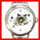 Cute Birman Cat Kitty Pet Round Italian Charm Wrist Watch 508