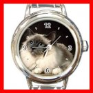 Birman Cat Kitty Pet Round Italian Charm Wrist Watch 511