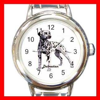 Dalmatian Dog Animal Pet Round Italian Charm Wrist Watch 513
