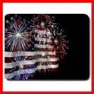 Fireworks American Flag Mouse Pad MousePad Mat 004