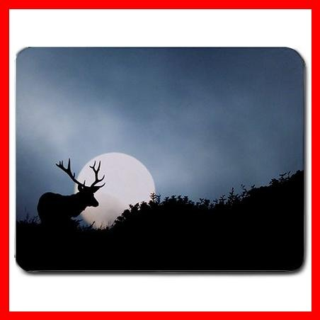 Moose Elk Deer Animal Hobby Mouse Pad MousePad Mat 009