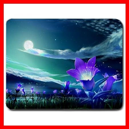 Purple Flowers Flower Nature Mouse Pad MousePad Mat 019