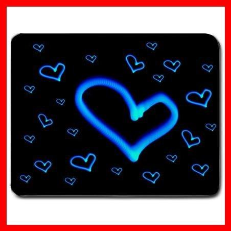 Blue Love Heart Cool Hobby Mouse Pad MousePad Mat 023