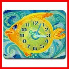 Golden Fish Clock Hobby Fun Mouse Pad MousePad Mat 025