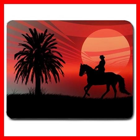 Wild Horse Tree Red Sunset Mouse Pad MousePad Mat 026