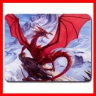 Red Dragon Mountain Myth Fun Mouse Pad MousePad Mat 043