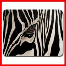 Zebra Eye Skin Wild Animal Mouse Pad MousePad Mat 052