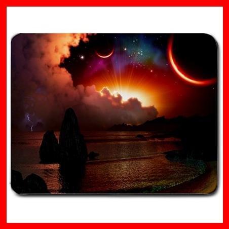 Sun Moon Storm Dark Nature Mouse Pad MousePad Mat 056
