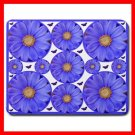 Blue Daisy Rolls Flower Fun Mouse Pad MousePad Mat 058