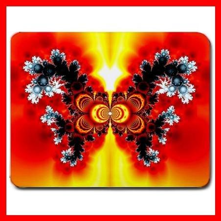 Fractal Butterfly Flower Fun Mouse Pad MousePad Mat 062