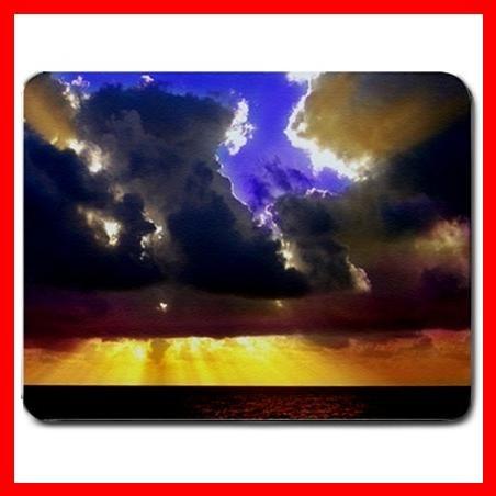 Blue Sky Cloudy Sunshine Fun Mouse Pad MousePad Mat 067