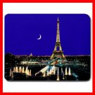 Paris Night Eiffel Tower Moon Mouse Pad MousePad Mat 069