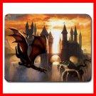 Red Dragon Myth Fantasy Fun Mouse Pad MousePad Mat 071