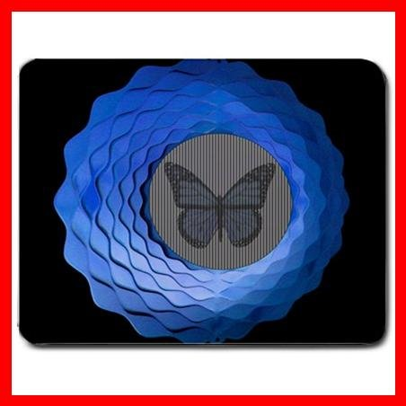 Animated Butterfly Blue Fun Mouse Pad MousePad Mat 079