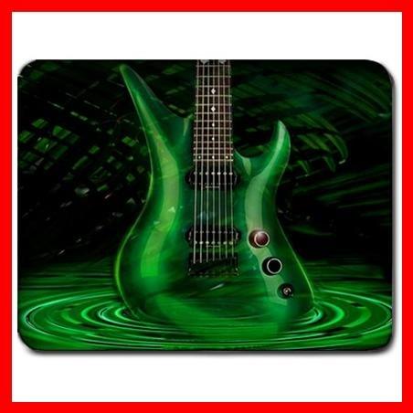 Green Guitar Music Hobby Fun Mouse Pad MousePad Mat 091