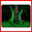 Green Guitar Music Hobby Fun Mouse Pad MousePad Mat 091