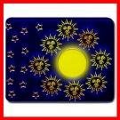 Sun Moon Stars Blue Hobby Mouse Pad MousePad Mat 099