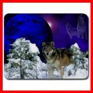 Grey Wolf Moon Snow Animal Mouse Pad MousePad Mat 104