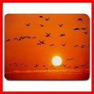 Orange Birds Rosing Sunset Fly Mouse Pad MousePad Mat 107