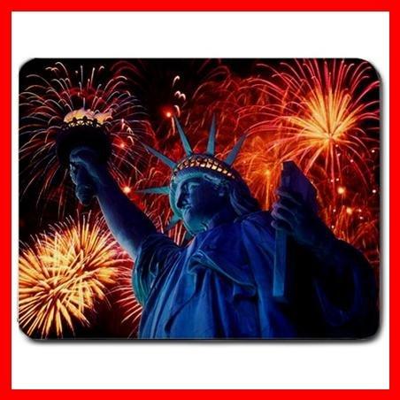 Statue Of Liberty Fireworks Mouse Pad MousePad Mat 128