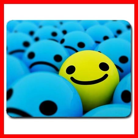 3D Smiles Blue Yellow Faces Mouse Pad MousePad Mat 131