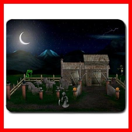 A Haunted Halloween House Mouse Pad MousePad Mat 133