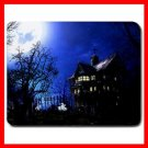 Haunted House Blue Night Fun Mouse Pad MousePad Mat 138