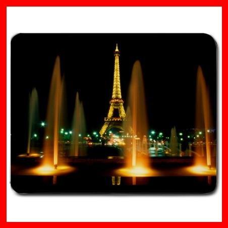 Eiffel Tower Night Paris Fun Mouse Pad MousePad Mat 146