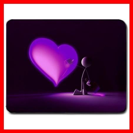 Paint Your Love Pink Heart Mouse Pad MousePad Mat 156