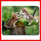 Kittens Cat Playing Animal Mouse Pad MousePad Mat 163