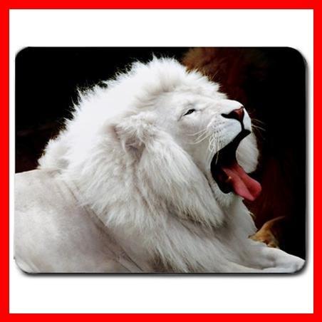 White Lion Wild Animal Hobby Mouse Pad MousePad Mat 166