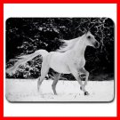 White Horse Running Animal Mouse Pad MousePad Mat 167