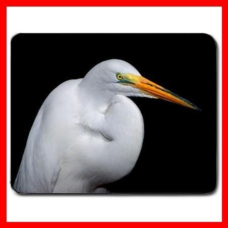 White Heron Bird Fly Hobby Mouse Pad MousePad Mat 168