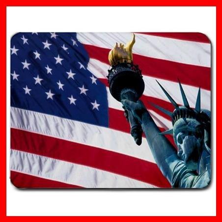 USA Flag Statue of Liberty Mouse Pad MousePad Mat 170