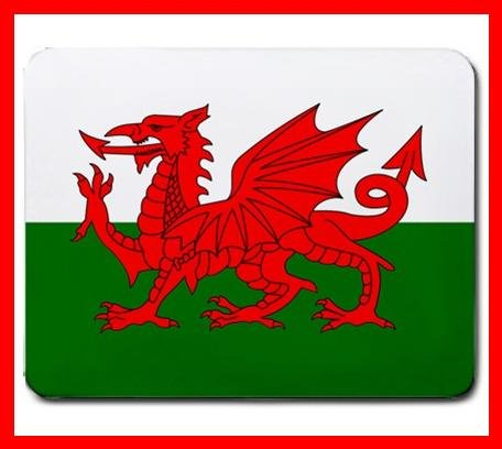 Welsh Flag Country Hobby Fun Mouse Mouse Pad MousePad Mat 215