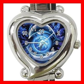 Dolphins Flying Earth Myth Italian Charm Wrist Watch 009