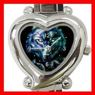 Wild Wolves black Animal Hobby Italian Charm Wrist Watch 012