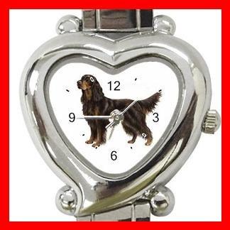 Gordon Setter Dog Pet Hobby Italian Charm Wrist Watch 016